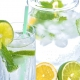 water hydration with citrus and mint